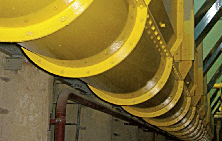Segment-Trogkettenfoerderer - Einläufe